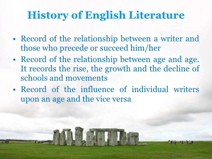 history of literature in english