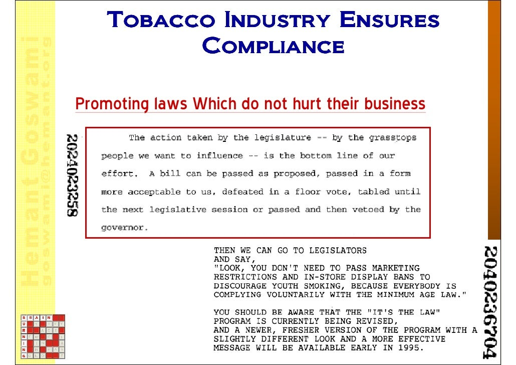 Should tobacco companies be to blame