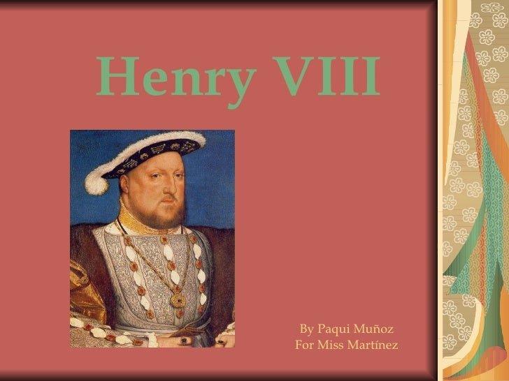 Henry VIII By Paqui Muñoz For Miss Martínez