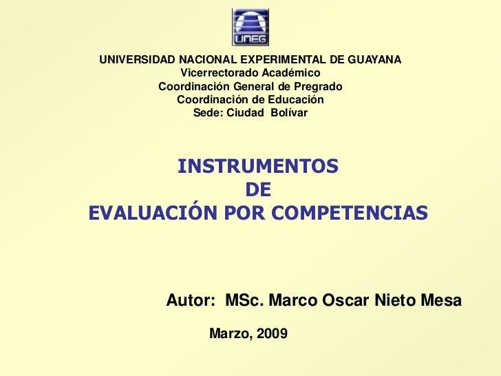 UNIVERSIDAD NACIONAL EXPERIMENTAL DE GUAYANA             Vicerrectorado Académico          Coordinación General de Pregrad...