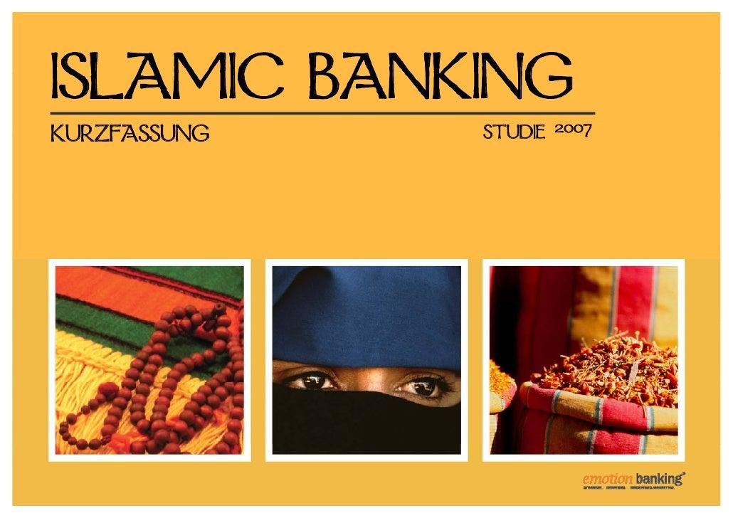 ISLAMIC BANKING KURZFASSUNG   STUDIE   2007
