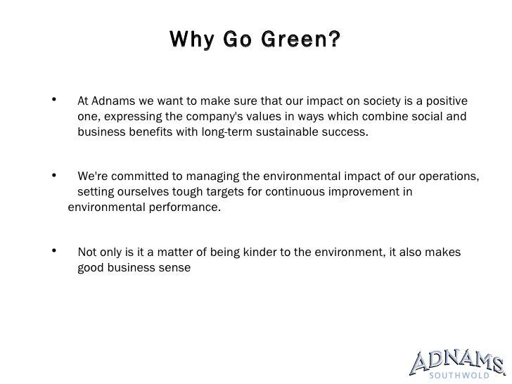 hotels going green Read this essay on advantages and disadvantages of hotels going green come browse our large digital warehouse of free sample essays get the knowledge you need in order to pass your classes and more.
