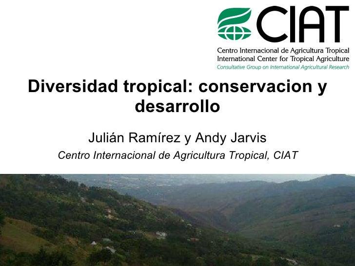 Diversidad tropical: conservacion y desarrollo Julián Ramírez y Andy Jarvis Centro Internacional de Agricultura Tropical, ...