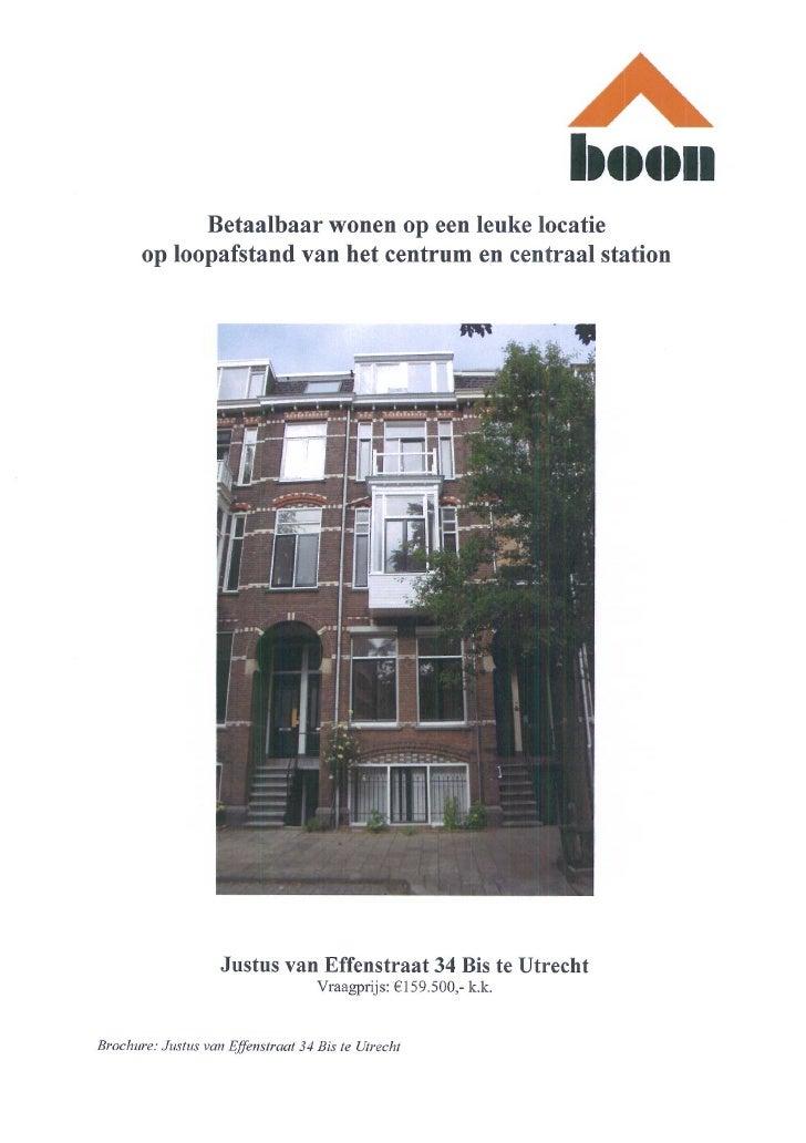 Justus Van Effenstraat 34 Bis Utrecht (www.boonmakelaars.nl)