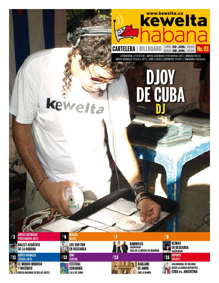 www.kewelta.cu                                                                    CarteLera | BILLBOarD MAR. 02	.JUN.	 201...