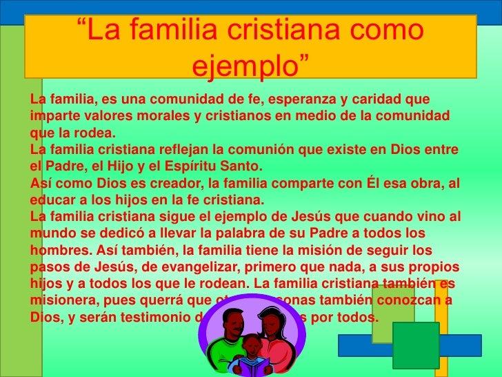 Resultado de imagen de valores cristianos de la familia