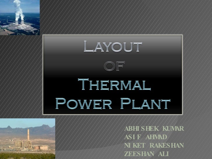 Presentation of thermal power plant