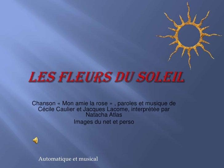 LES FLEURS DU SOLEIL <br />Chanson «Mon amie la rose» , paroles et musique de Cécile Caulier et Jacques Lacome, interpré...