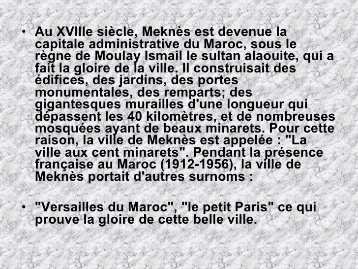 Meknes maroc - Consulat du maroc porte de versailles ...