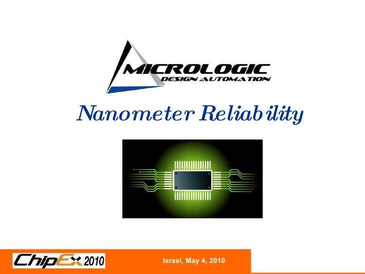 nanoRVInteractive™ Nanometer Reliability