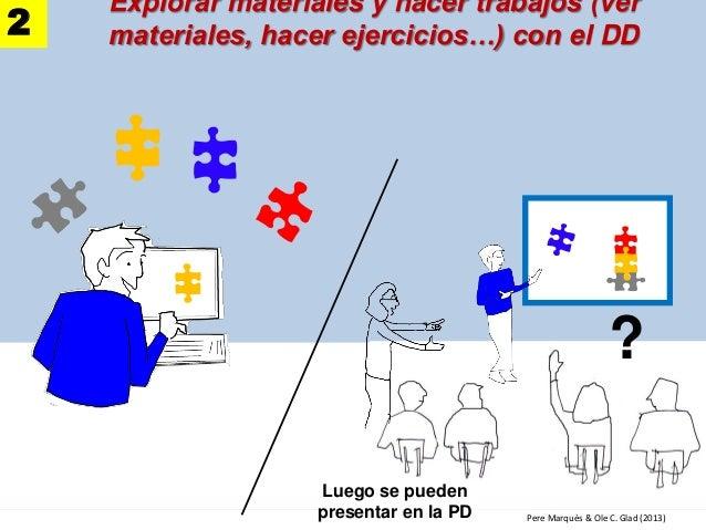 ? Pere Marquès & Ole C. Glad (2013) Explorar materiales y hacer trabajos (ver materiales, hacer ejercicios…) con el DD2 Lu...