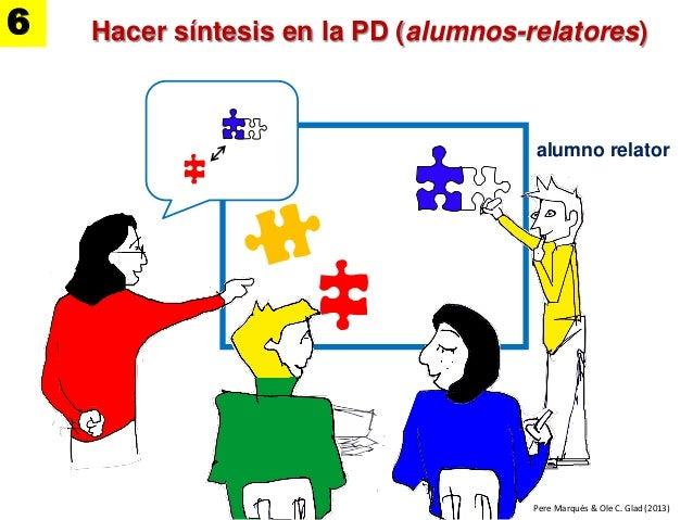 alumno relator Hacer síntesis en la PD (alumnos-relatores) Pere Marquès & Ole C. Glad (2013) 6
