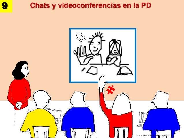 Chats y videoconferencias en la PD Pere Marquès & Ole C. Glad (2013) 9