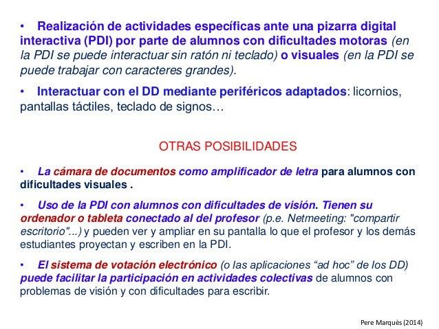 • Realización de actividades específicas ante una pizarra digital interactiva (PDI) por parte de alumnos con dificultades ...