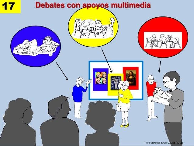 Debates con apoyos multimedia Pere Marquès & Ole C. Glad (2013) 17
