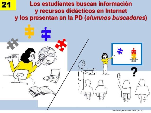 Los estudiantes buscan información y recursos didácticos en Internet y los presentan en la PD (alumnos buscadores) ? Pere ...