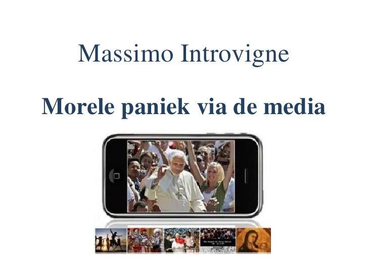 Massimo Introvigne Morele paniek via de media
