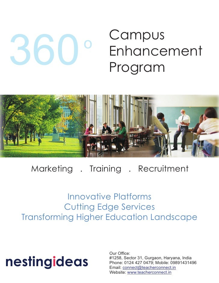 Campus 360            o     Enhancement                      Program         Marketing . Training . Recruitment           ...
