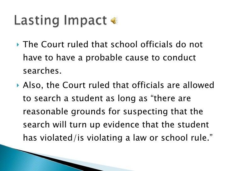Reasonable Suspicion School Searches New Jersey V T L O Pow...