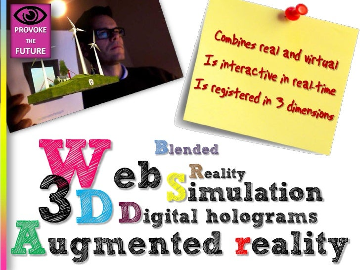 Web S      Blended          Reality   3D D reality          imulation      igital holograms Augmented