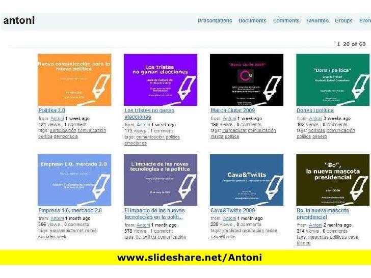 Nuevas Tecnologías y Campañas electorales Slide 3
