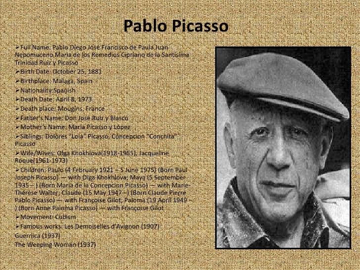 Pablo Picasso Presentation 25/1/2010