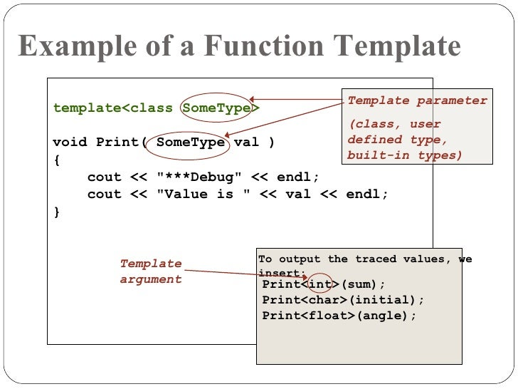 Exception handling and templates