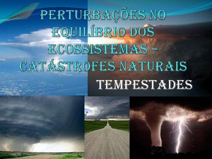 Perturbações no equilíbrio dos ecossistemas – catástrofes naturais<br />Tempestades<br />