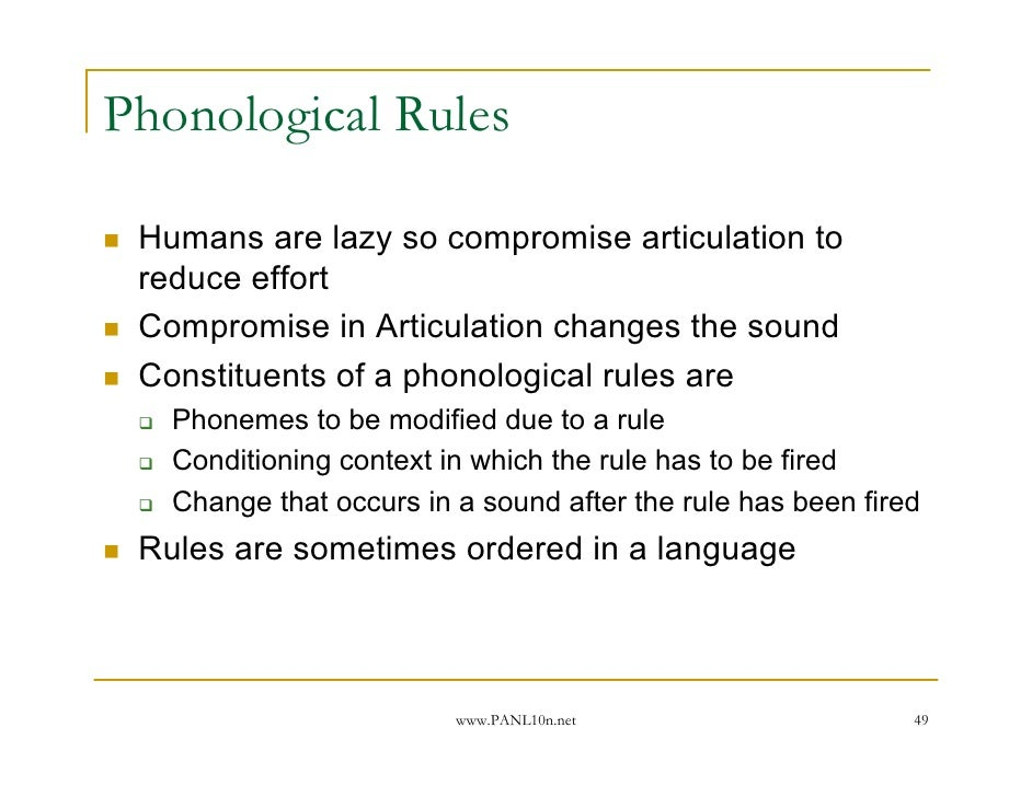 significance function phonological rules language Comm 245 chapter 5 study play meaning the sense that people extract from a message  all language is symbolic and all symbolic systems constitute language false phonological rules deal with the correct pronunciation of words true using emotion to persuade is known as ethos false.