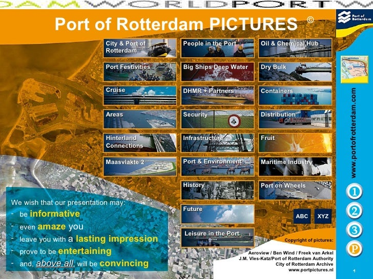 Port of Rotterdam   PICTURES © City & Port of Rotterdam Maasvlakte 2 Infrastructure People in the Port Distribution Areas ...