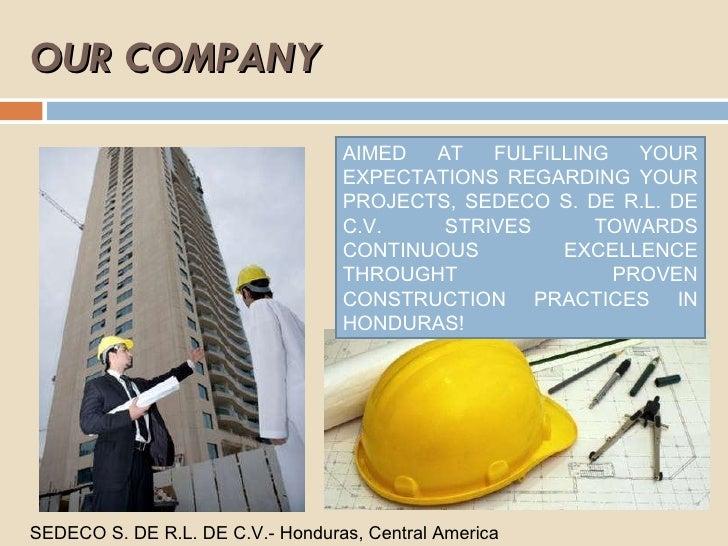 sedeco s  de r l  de c v  construction company in honduras