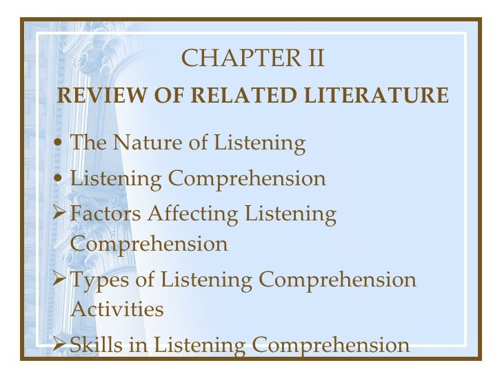 related review of literature subdivision