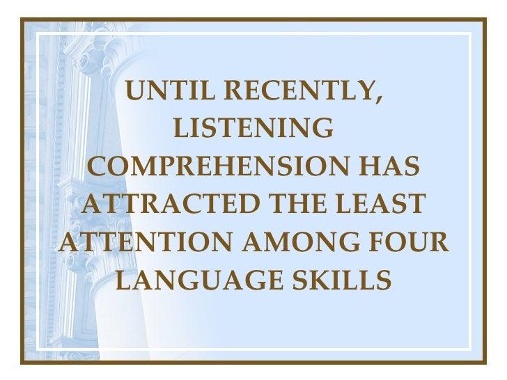 dissertations listening comprehension