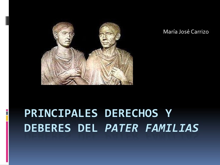 pater familias This page was last edited on 25 january 2018, at 15:46 text is available under the creative commons attribution-sharealike license additional terms may apply.