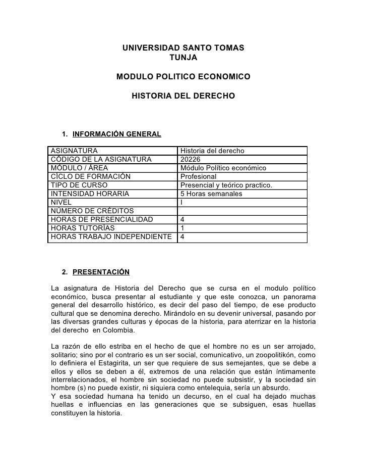 UNIVERSIDAD SANTO TOMAS                                 TUNJA                       MODULO POLITICO ECONOMICO             ...