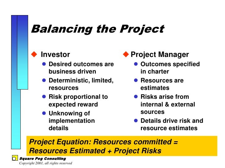 the project balance sheet