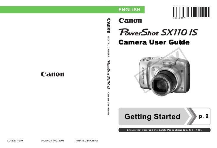 canon powershot sx110 is Specs Canon PowerShot SX20 Is canon powershot sx10is user manual