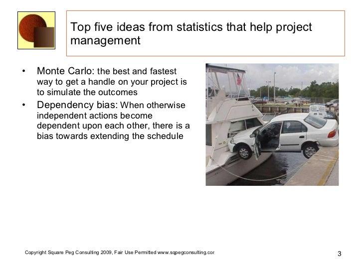 Top Five Ideas -- Statistics for Project Management Slide 3
