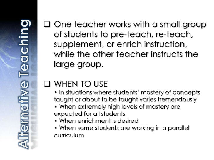 Co-Teaching: Six Models for Teacher Success