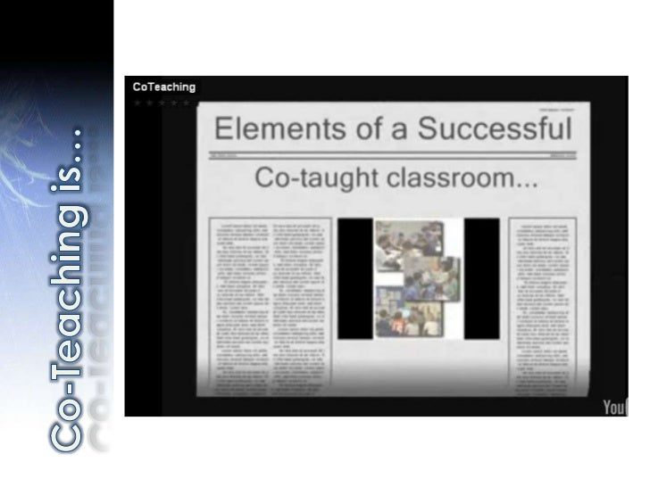 Co-Teaching is…<br />