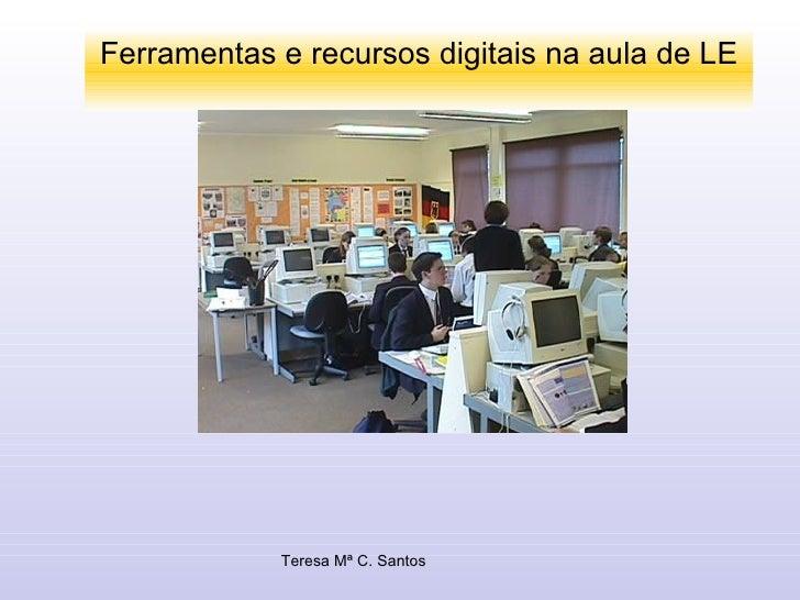 Ferramentas e recursos digitais na aula de LE