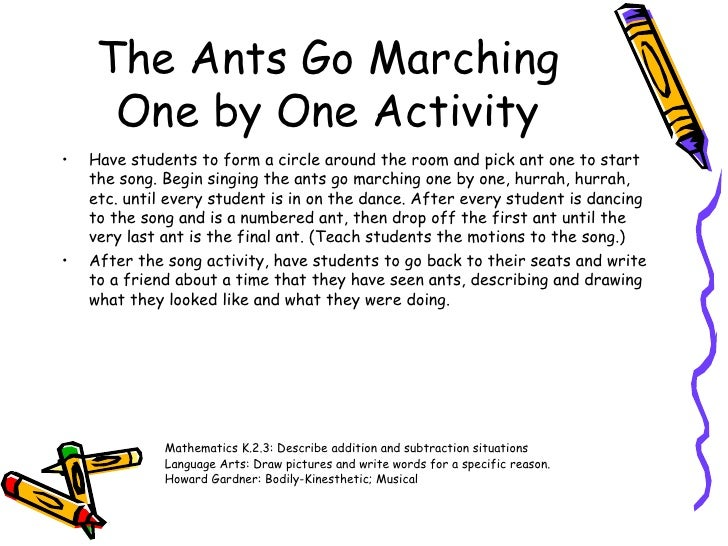 Howard Gardner Interpersonal 8 The Ants Go Marching