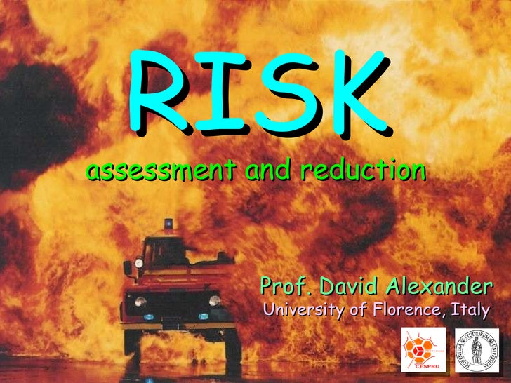 Prof. David Alexander University of Florence, Italy RISK assessment and reduction