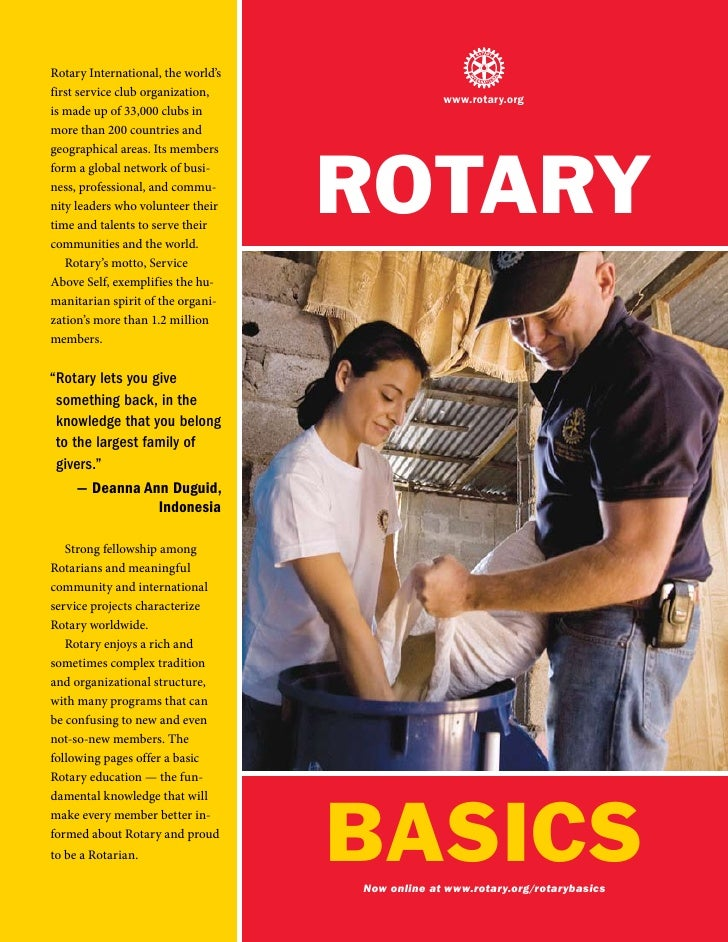 Rotary International, the world's first service club organization,                                                  www.ro...