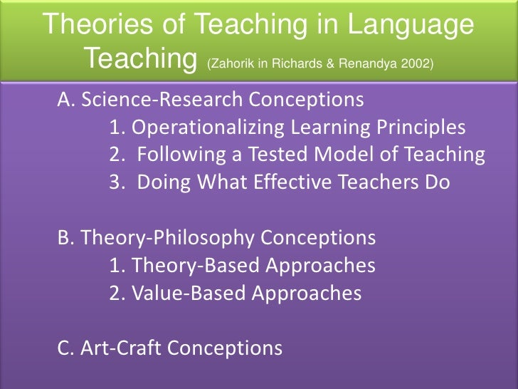 thesis teaching english as a foreign language This collection of papers directed toward the teacher of english as a second language language learning with such essays as teaching english as a foreign.