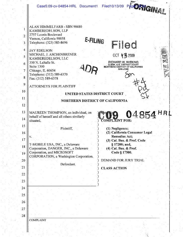 Case5:09-cv-04854-HRL Document1   Filed10/13/09 Page1 of 21