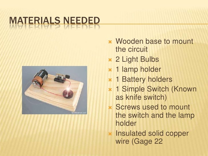 simple electrical circuit rh slideshare net materials circuits materials used in integrated circuits