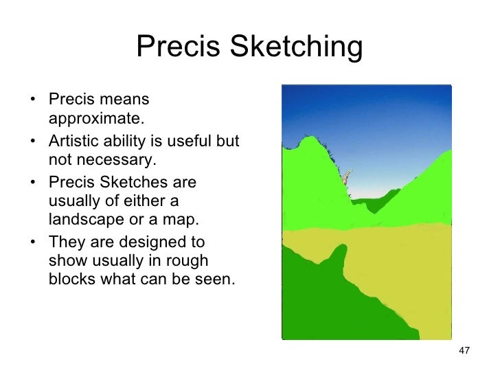 what does precis mean