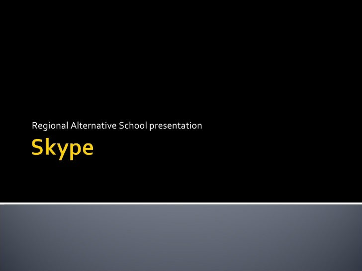 Regional Alternative School presentation