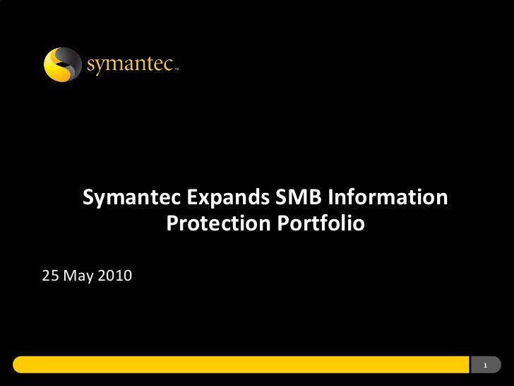 SMB Information Protection Portfolio